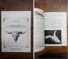 DAL SASSO C. - I mammiferi fossili delle alluvioni quaternarie lombarde 1993