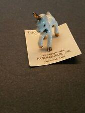 Vintage Hagen Renaker Unicorn Baby # a- 956 On Card