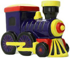 Bank Large Money Train Item 3629 Red Blue Yellow Colorful Ceramic Piggy Bank New