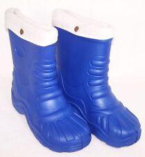 Winterstiefel Gummistiefel gefüttert Stiefel Blau 32/33 Wasserdicht Neu Posten