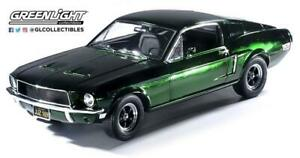 1/18 1968 FORD MUSTANG GT FASTBACK BULLITT S. MCQUEEN CHROME FULLY OPENING 12823