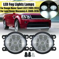 Front LED Fog Light Lamps For Land Rover Discovery 4 Range Rover Sport L322