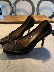 PATRICK COX WANNABE WOMEN'S DARK BROWN SUEDE MOCCASIN STYLE SHOES SIZE 5.5