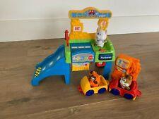 Vtech Smartville animals garage, count & go, edu interactive toy 3 figs+ 2 cars
