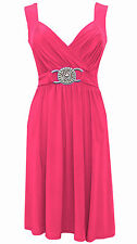 NEW PINK COCKTAIL EVENING PARTY WEDDING PROM DRESS SIZE 8-10