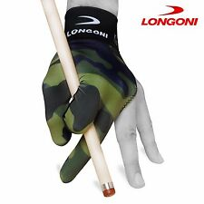 LONGONI Billiard POOL CUE GLOVE Fancy Military 1 for Left hand + FREE SHIPPING!