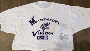 1989 MINNESOTA VIKINGS TODD KALIS #69 PLAYER WORN SHIRT PRACTICE FOOTBALL
