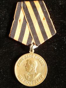 U18O) Médaille soviétique commémorative victoire guerre 1939 1945 ww2 medal