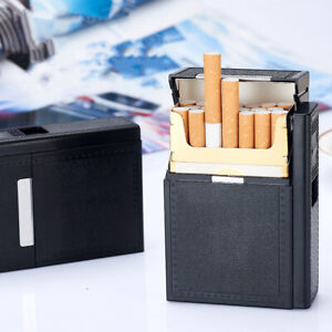Cigarette Case Smoke Tobacco Box Lightweight Plastic Holder Electric Lighter