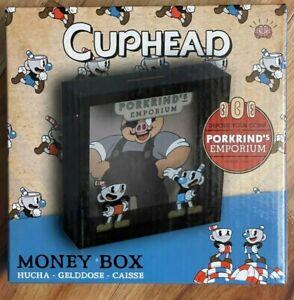 New Cuphead Porkrind's Emporium Money Box Piggy Bank