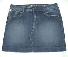 !iT JEANS Los Angeles Girls Size 14 Stretch Denim Blue Jean Skirt Mini Med Wash