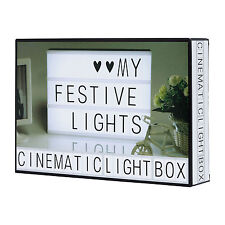 NEW A4 LIGHT UP LETTER BOX LED SIGN PARTY OUTDOOR WEDDING PLAQUE SHOP CINEMA