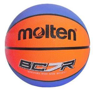 Molten BCR Indoor Outdoor Rubber Basketball Ball Blue/Orange - Size 6