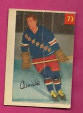 1954-55 PARKHURST # 73 RANGERS CAMILLE HENRY ROOKIE CARD  (INV# A7564)