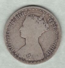 More details for 1869 victorian silver gothic florin in a well used condition - die number 3