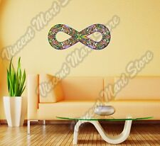 """Infinity Symbol Abstract Colorful Wall Sticker Room Interior Decor 25""""X12"""""""