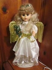 """Animated Lighted 24"""" Christmas Angel Motionette Holiday Electric Motion Figurine"""