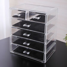 Diamond Jewelry Makeup Organizer Case Box Storage Acrylic Display Drawer