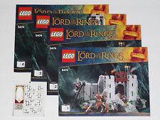 LEGO Instruction Books & Sticker Sheet 9474 The Battle of Helm's Deep NEW