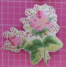 Cath Kidston Antique Rose Wallpaper 10 Decoupage Pieces Roses Floral craft scrap