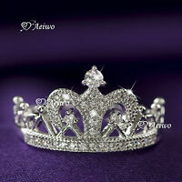 18K WHITE GOLD GF SIMULATED DIAMOND WEDDING BAND ENGAGEMENT RING CROWN