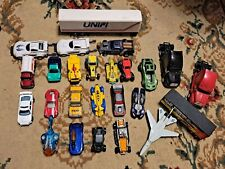 Lot of 25 Loose 1/64 Diecast & Toy Cars Trucks Planes Hot Wheels Matchbox