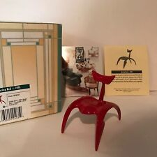 Take A Seat Collectible Miniature Chair Racing Red C. 1991 Dollhouse