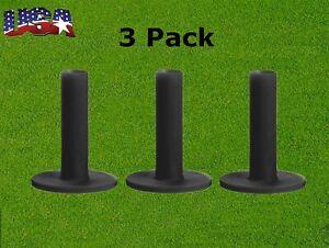 Rubber Range Driving Mat Golf Tees Holder for Golf Driving Range Practice 3 Pack