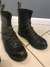 Mens Dr. Martin Ryan Hightop 13 M. Black Leather Lace Up Original Boots