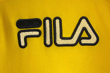 FILA youth small beat -up jersey 5 kids tennis old-school logo shirt embroidery