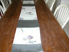 Table Runner Lined & made with Laura Ashley Peony Blossom and Grey Toning Fabric