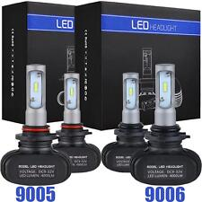 For GMC Sierra 1500 2500 HD 9005 9006 LED Headlight Conversion Combo Bulbs Kit