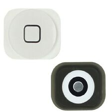 New Home Button w/ Rubber Gasket Sticker + Metal Sticker for iPhone 5C White