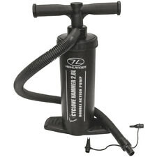Highlander Cyclone Hammer 2.8L Double Action Hand Piston Air Pump Camping Black
