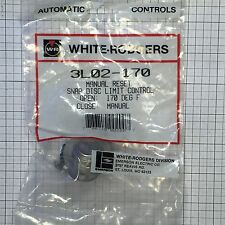 """3L02-170 WHITE RODGERS SNAP DISC LIMIT CONTROL MANUAL RESET 3/4"""" CUT-OUT 170 F"""