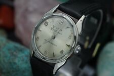 C. 1956 Vintage BULOVA 23 Jewels Automatic White Gold Filled Sunburst Dial Watch