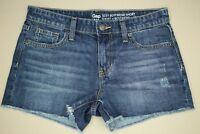 Gap Sexy Boyfriend Cut Off Shorts Women's Size 2 Distressed Medium Wash Denim