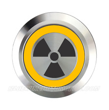Radioactive Billet Button Hot Rod Holden Ford Delorean-Back To The Future-Dmc