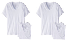 Calvin Klein Men's 6-Pack Cotton Stretch V-Neck T-Shirt (X-Large, White)