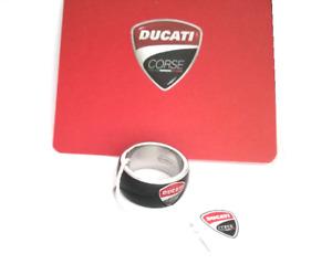 Ducati Corse Edelstahl Ring Fingerring schwarz beschichtet