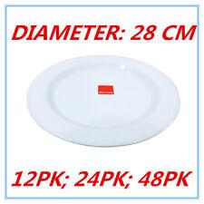 28cm Melamine Round Plate Birthday Wedding Party Dinner White Cafe Snack Dish FD