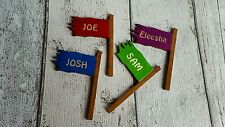 FAIRY DOOR ACCESSORIES RAGGED FLAG SIGN ANY COLOUR AVAILABLE PRICE IS FOR 1 FLAG