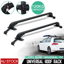 Universal Car Top Roof Rack Cross Bars Aluminum Alloy Aero Lockable AU