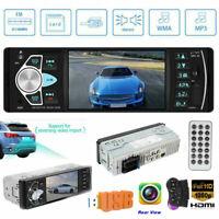 4.1 Inch Bluetooth FM Car Stereo Radio 1 DIN MP5 SD/USB AUX Head Unit + Camera