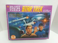Golden Star Trek 300 Piece Poster Puzzle Factory Sealed 1993 Paramount Pictures