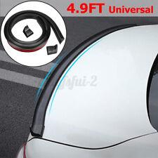 4.9ft Universal PU Car Rear Roof Roof Trunk Spoiler Wing Lip Sticker Kit Black