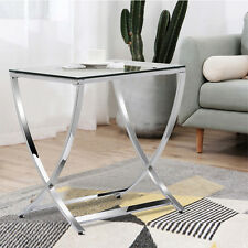Chrome With Glass Top Sofa Accent Side Coffee End Table Living Room Decor
