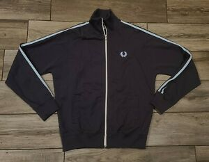 Vintage 80s Fred Perry Sportswear Full Zip Jacket Stripe Mod S Portugal