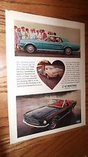 ★★1967 MUSTANG FASTBACK-COUPE-CONVERTIBLE ORIGINAL AD-67 FORD PHOTO 390 ★★