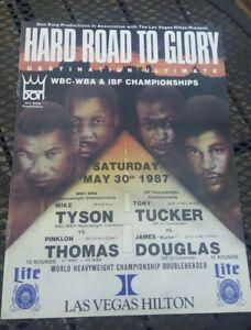 Original Mike Tyson + Pinklon Thomas Boxing Program. 1987. + Tucker vs. Douglas.